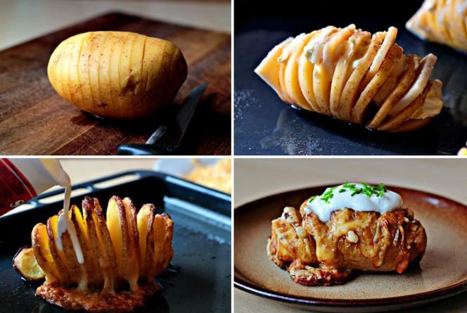 Scalloped Hasselback Potatoes FB