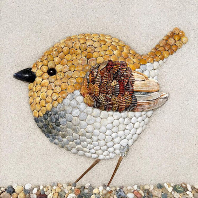 19 Images of Animals Made of Seashells. Summer Beach Art at Its Best!