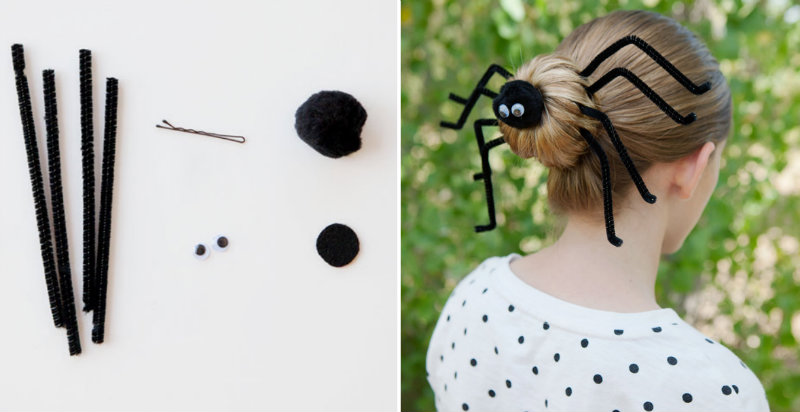 how to make a spider bun