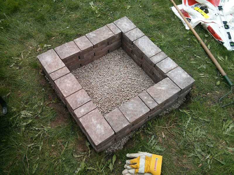 How to make square fire pit diy crafts handimania for Square fire ring