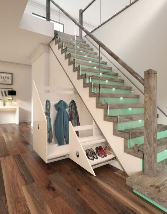 10 Innovative Ideas How the Space under  Stairs Can Be Managed