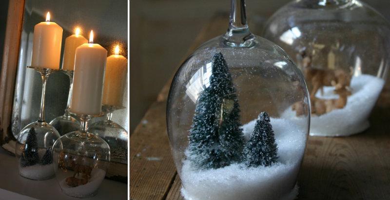 How To Make Stemware Snow Globes Diy Amp Crafts Handimania
