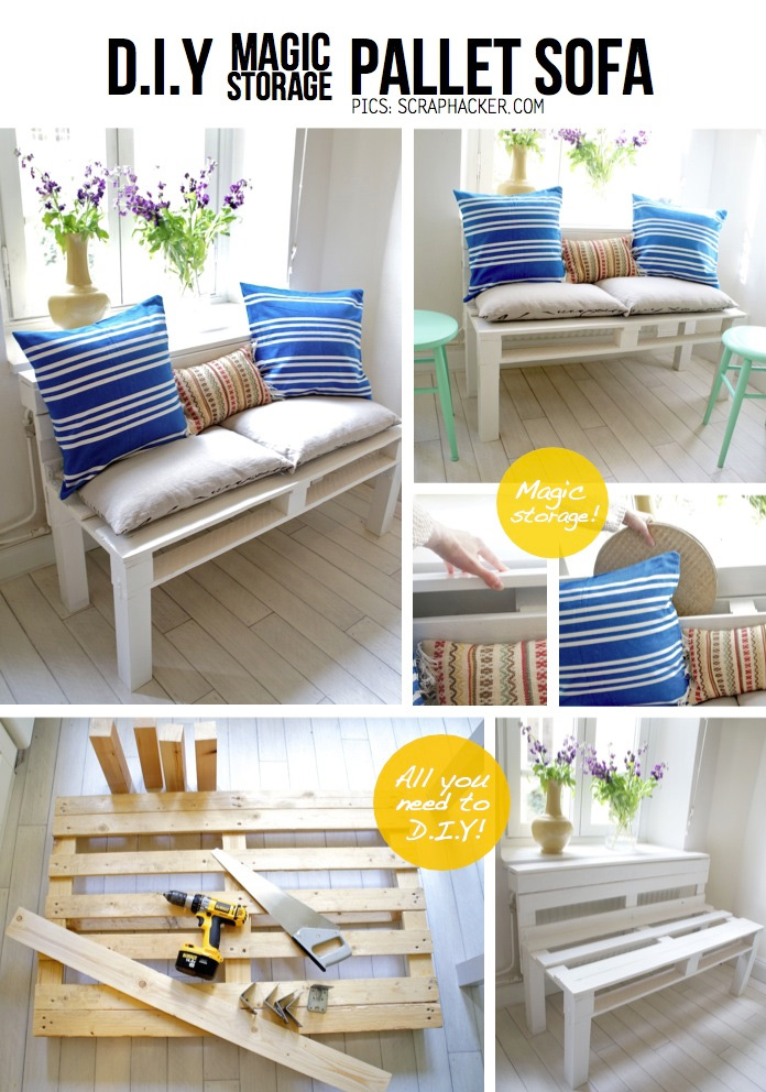 Storage Pallet Sofa