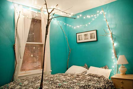 String Lights Ideas For Your Bedroom 02