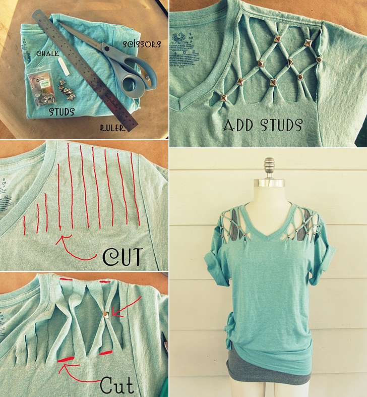 How to Make Stud T-shirt - DIY & Crafts - Handimania