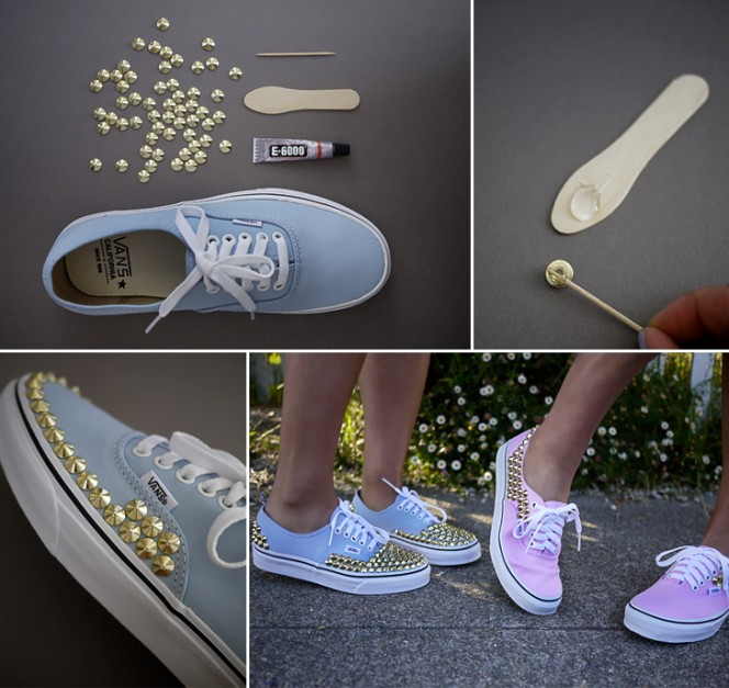 Studded Sneakers Collage