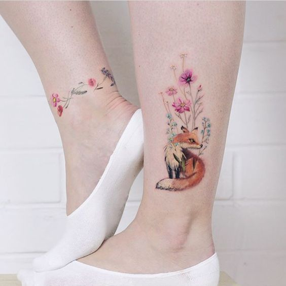 27 Inspirational Ankle Tattoos. Fantastic Patterns in a Variety of Sizes