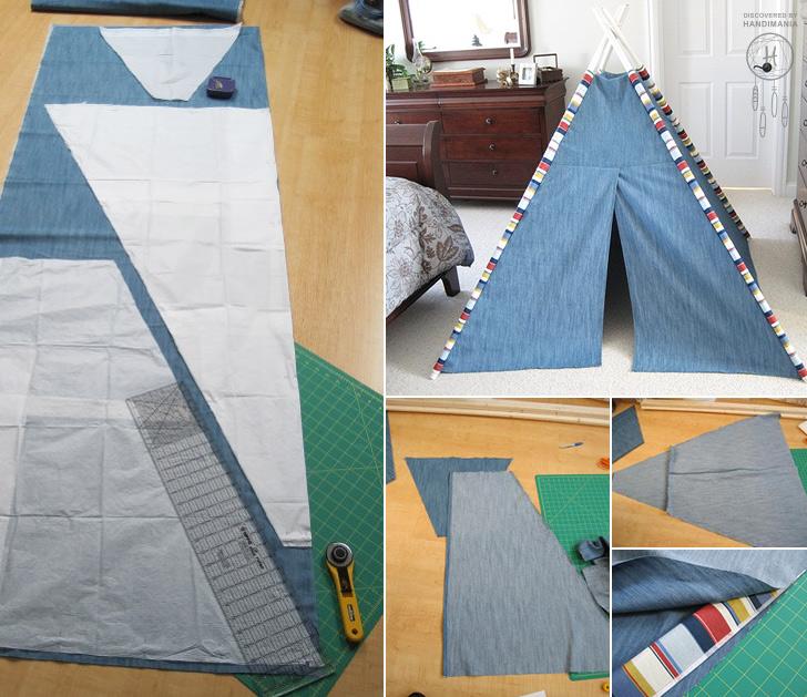 how to make teepee tent for kids diy crafts handimania. Black Bedroom Furniture Sets. Home Design Ideas
