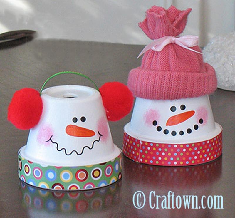How to Make Terra Cotta Pot Snowman - DIY & Crafts ...