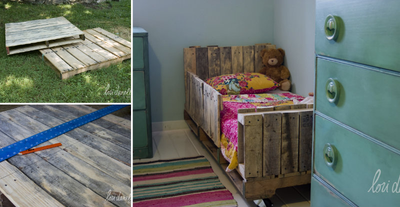 How To Make Toddler Pallet Bed