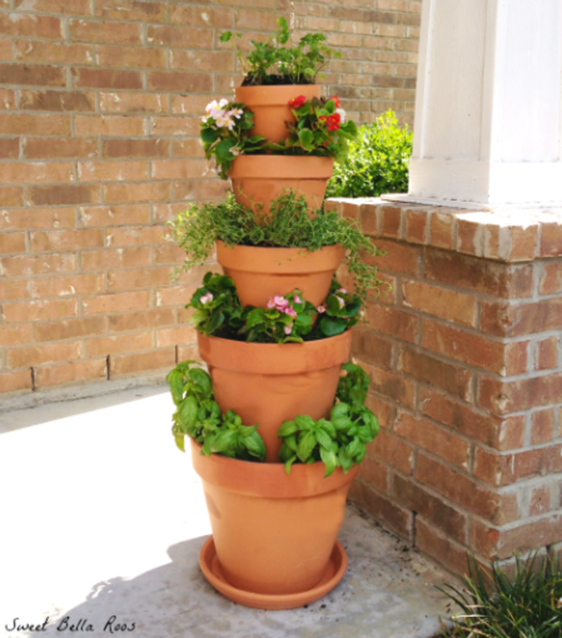Diy Flower Tower Planter: How To Make Tower Herb Planter