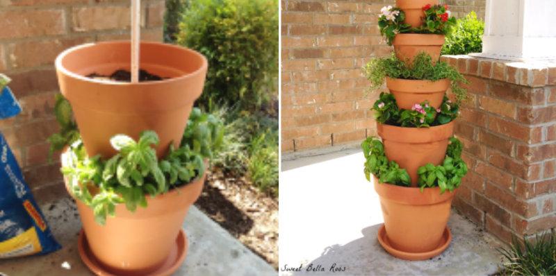 Tower Herb Planter Diy Crafts