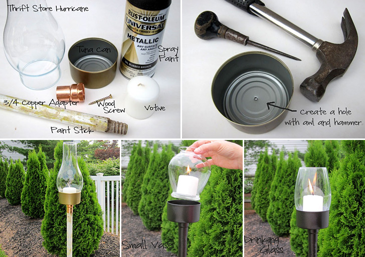 tuna can outdoor candle lantern - Outdoor Candle Lanterns