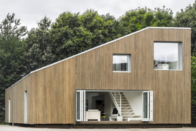 Upcycled Shipping Container House