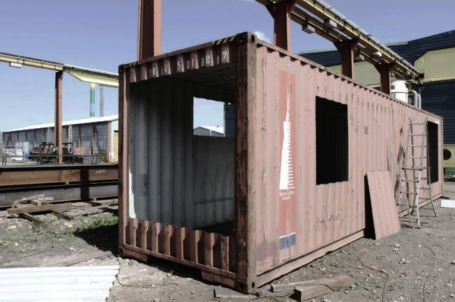 Upcycled shipping container house craftspiration for How to make a shipping container home