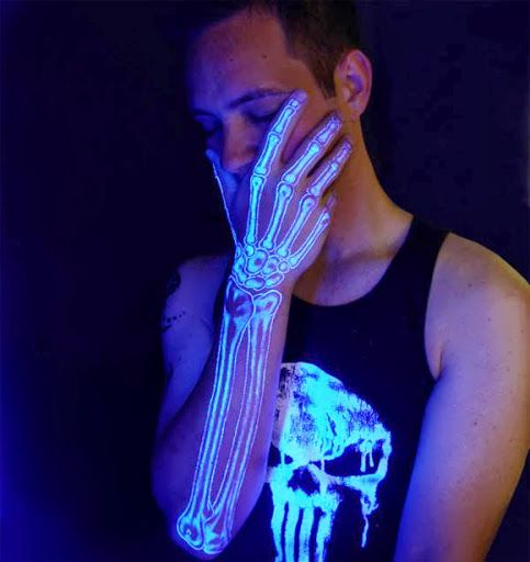 18 Sci-Fi Tattoos That Are Visible in UV. They Glow Like Neon Signs
