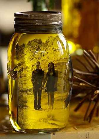 Vintage Pictures in Mason Jars