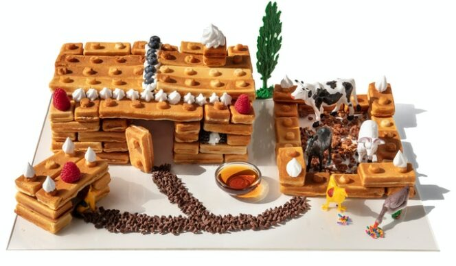 Waffle Blocks – Building During Breakfast. An Ingenious Idea Going Viral!