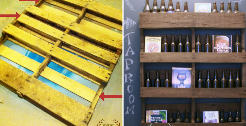 How To Make Wall Mounted Pallet Shelf Diy Amp Crafts