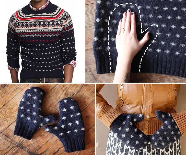 Warm Sweater Mittens