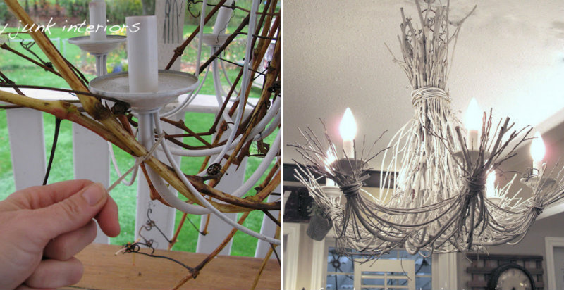 How To Make White Twig Chandelier Diy Crafts Handimania