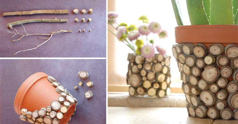 How To Make Wood Chip Vase Diy Amp Crafts Handimania