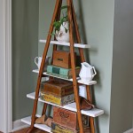 Wood Crutches Vintage Shelf