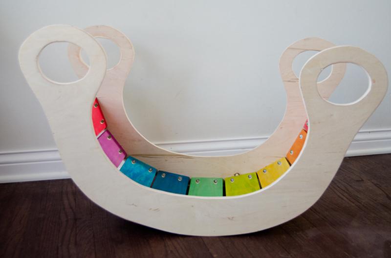 How to Make Wood Rainbow Rocker - DIY & Crafts - Handimania
