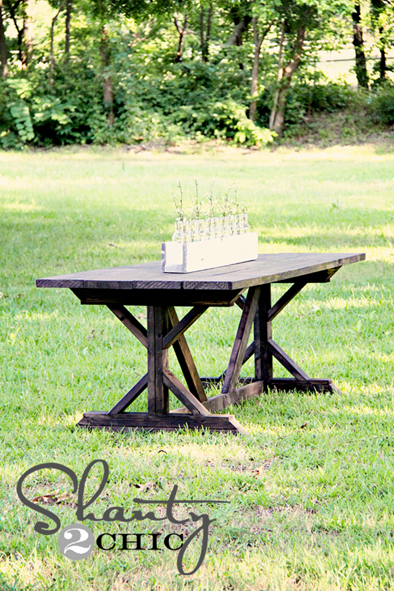 How to Make X Farmhouse Table DIY & Crafts Handimania